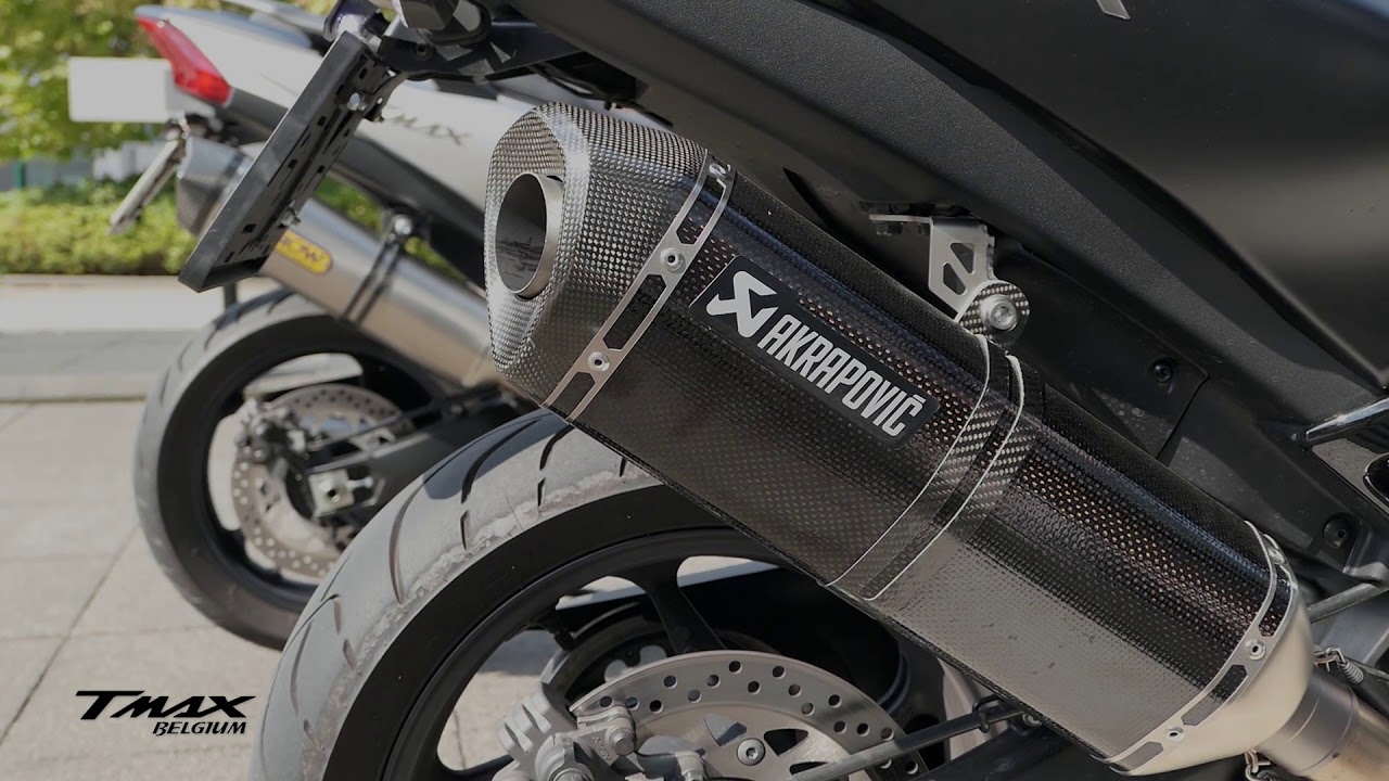 Yamaha Tmax Dx 2018 Malossi With Akrapovic Racing Line Carbon Youtube
