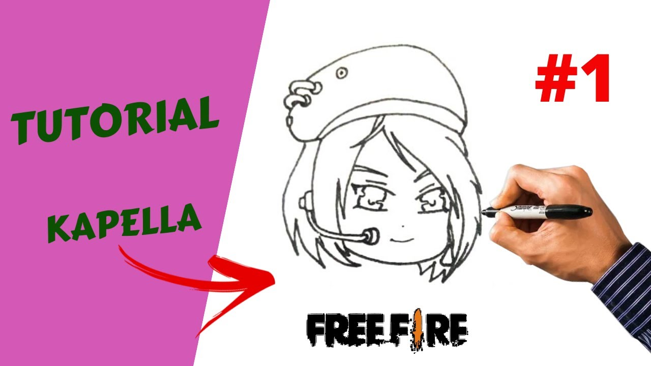 COMO DESENHAR A KAPELLA DO FREE FIRE