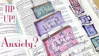 Bible Journaling: Anxiety (Vellum Tip-Up How-To) 1 Peter 5:7