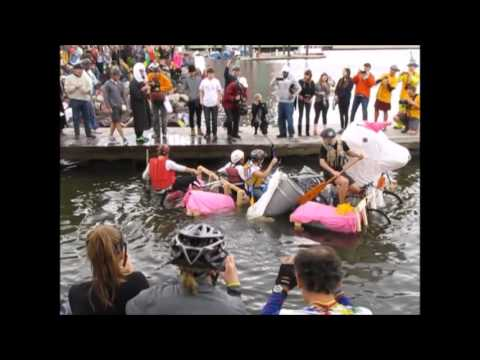 Kinetic Sculpture Race 2016, Baltimore -- Water Entry at Canton Waterfront Park