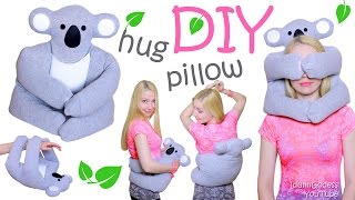 How To Make A Koala Hug Pillow Out Of An Old Sweatshirt - DIY Cute Koala Warming Pillow