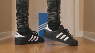 Adidas Superstar On-Feet (Black) - Sneaker Talk @adidasoriginals