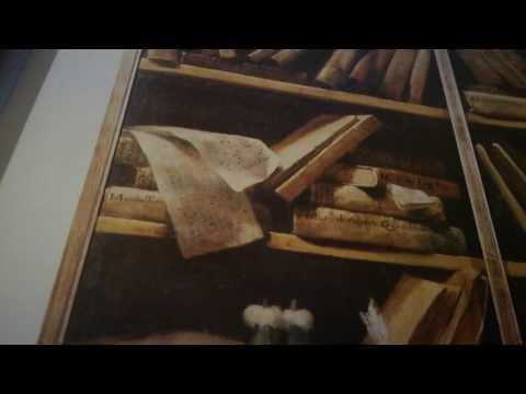 Scaffali con libri di musica(olio su tela) Bologna Civico Museo Bibliografico Musicale