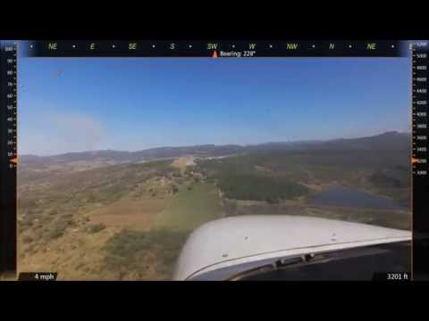 Approaches and landings at various South African airports