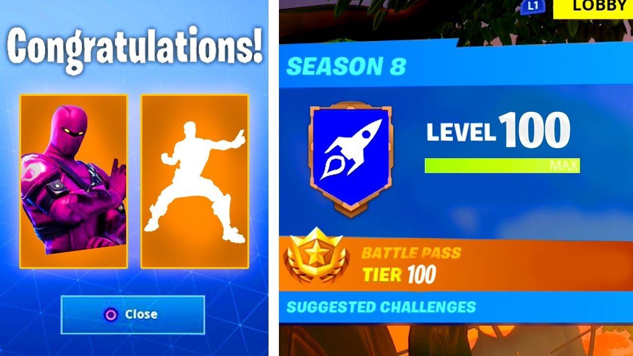 New Level 100 Rewards In Season 8 Secret Rewards Unlocked In