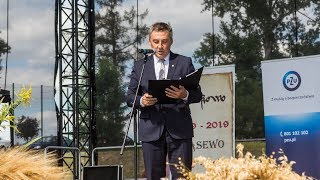 Dożynki gminno-parafialne w Wąsewie - uroczyste otwarcie przez wójta
