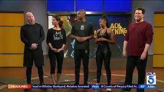 Nafessa Williams and Marvin Jones III of CW's Black Lightning on KTLA 5 News at 3pm