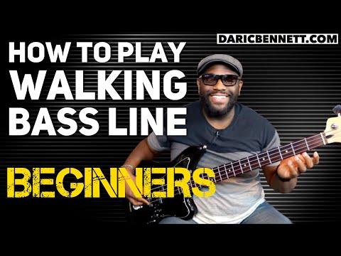 How to Play A Walking Bass Line Lesson | Bass Guitar for Beginners | Daric Bennett