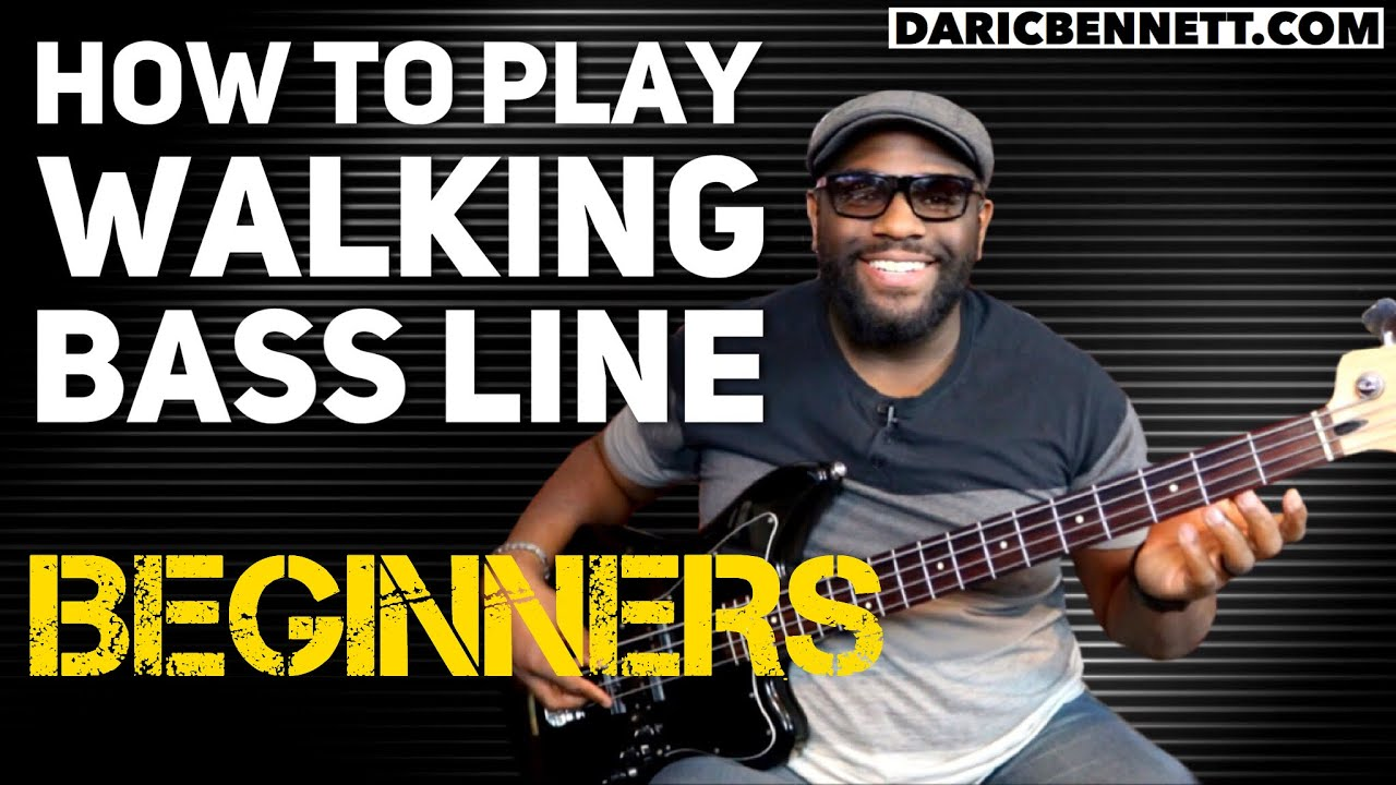 how to play a walking bass line lesson bass guitar for beginners daric bennett s bass. Black Bedroom Furniture Sets. Home Design Ideas