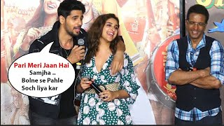 Parineeti Chopra With Sidharth Malhotra At Jabariya Jodi Trailer Launch
