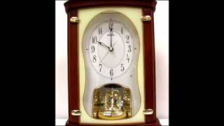 Qxw212brh Seiko Melodies In Motion Swarovski Crystal Wood Mantel Clock
