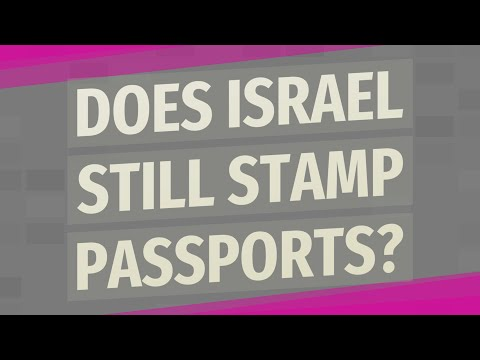 Does Israel Still Stamp Passports?