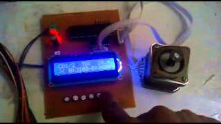 Step motor control PIC16F877A   LCD