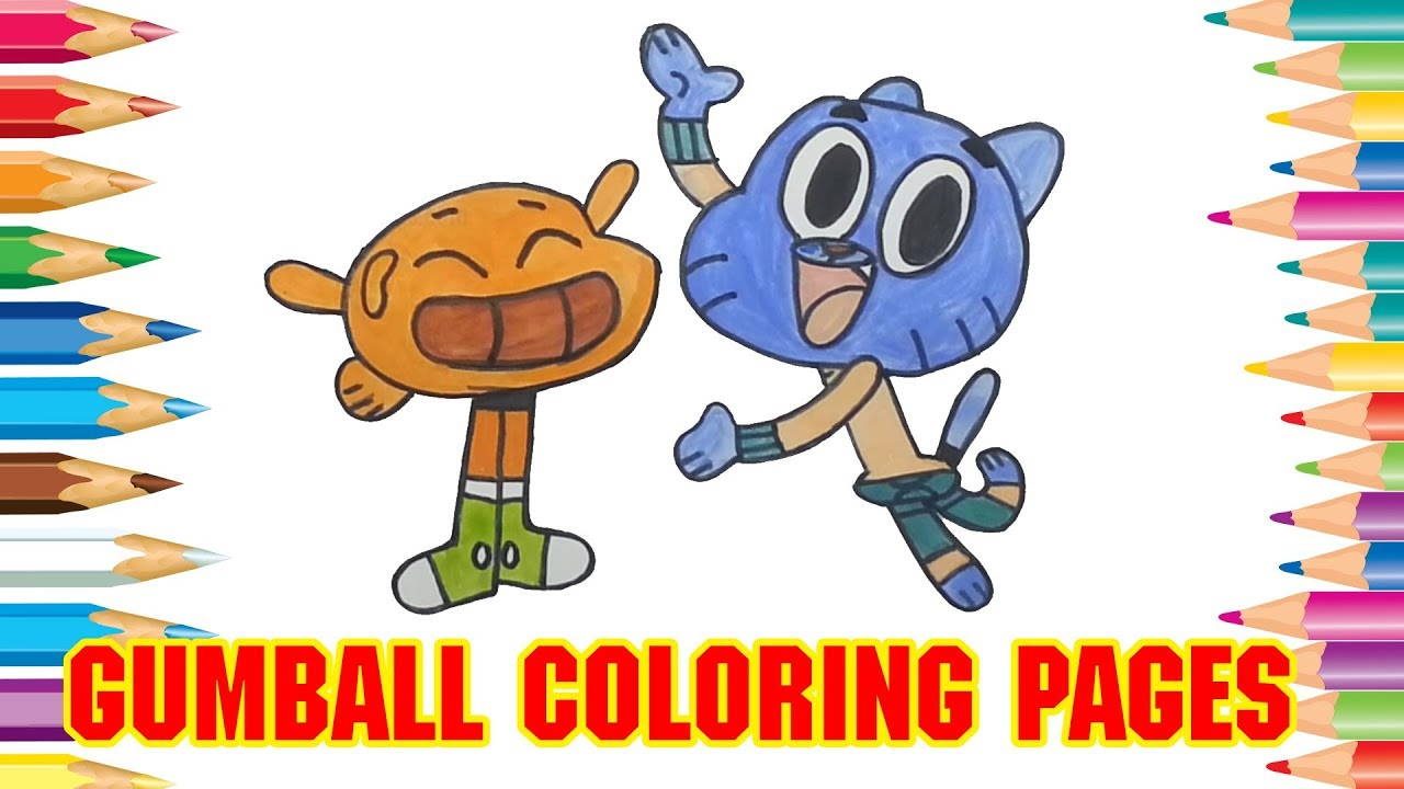 How To Draw Amazing World Of Gumball Coloring Pages