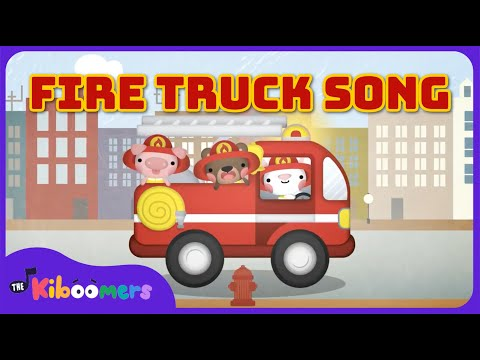 Hurry Hurry Drive the Firetruck | Fire Truck Song | Car Songs for Kids | The Kiboomers