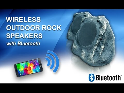 wireless rock speakers with bluetooth free rok - Outdoor Rock Speakers