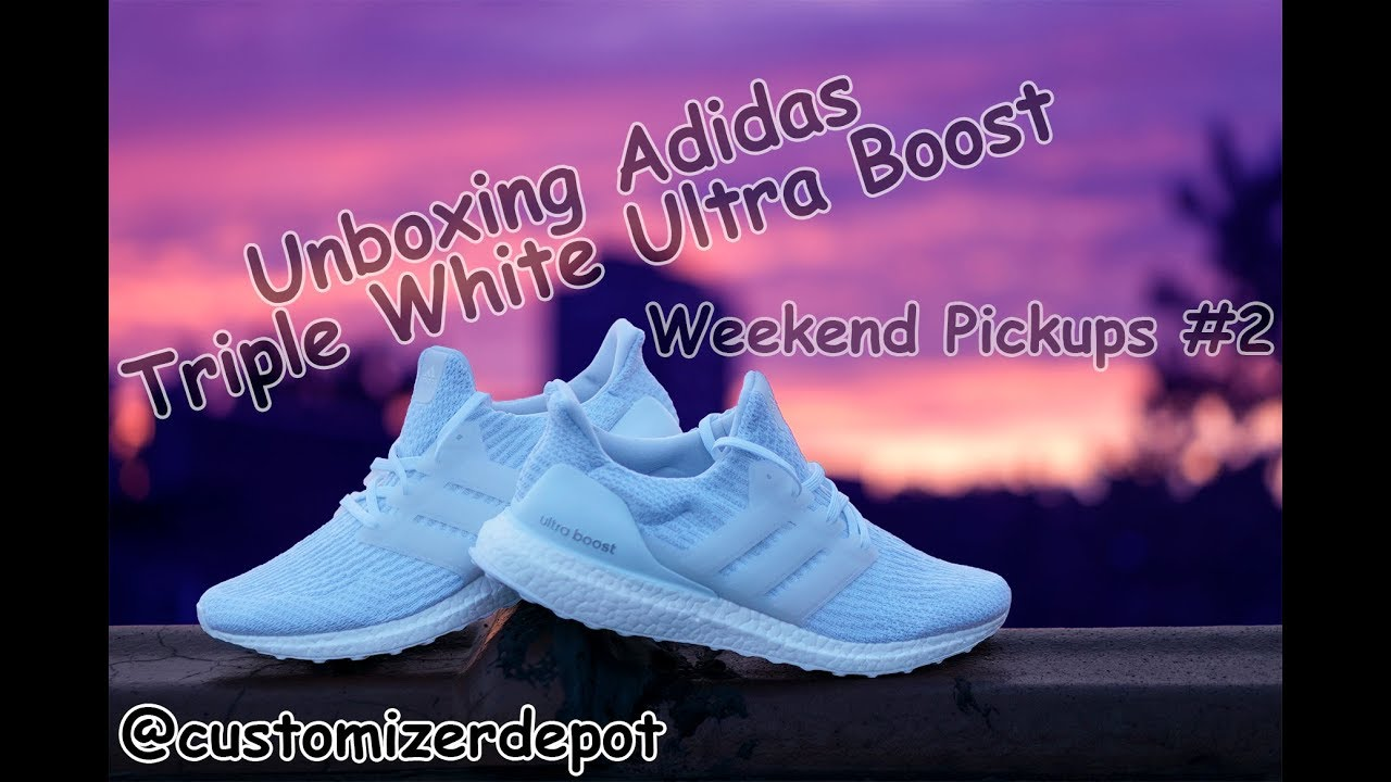 45d7e76180b Unboxing Adidas Triple White Ultraboost 3.0 (Weekend Pickups  2 ...