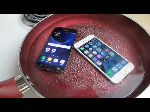 Samsung Galaxy S7 vs iPhone 6S Boiling Hot Water Test