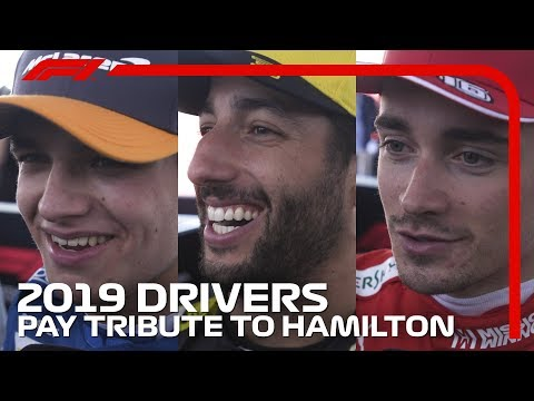 F1 Drivers Pay Tribute To Lewis Hamilton | 2019 United States Grand Prix