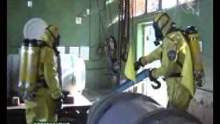 Обучение спасателей на очистных сооружениях Черниговводоканала ecity cn ua