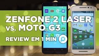 Zenfone 2 Laser vs Moto G3 - COMPARATIVO | REVIEW EM 1 MINUTO - ZOOM