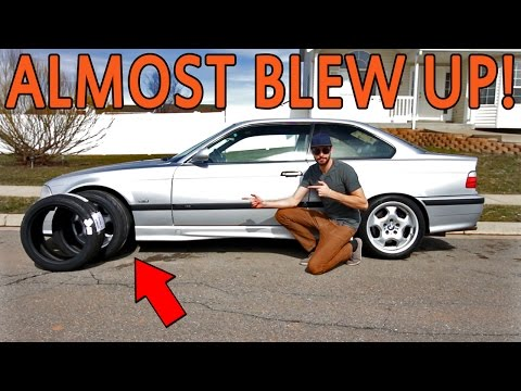 FAT DRIFTING! + Nitto NT05 Review  - e36 M3