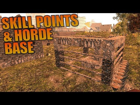 SKILL POINTS & HORDE BASE | Ravenhearst MOD 7 Days to Die | Let's Play Gameplay Alpha 16 | S01E10