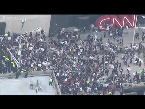 Protesters, Police In Standoff In Front Of CNN Center