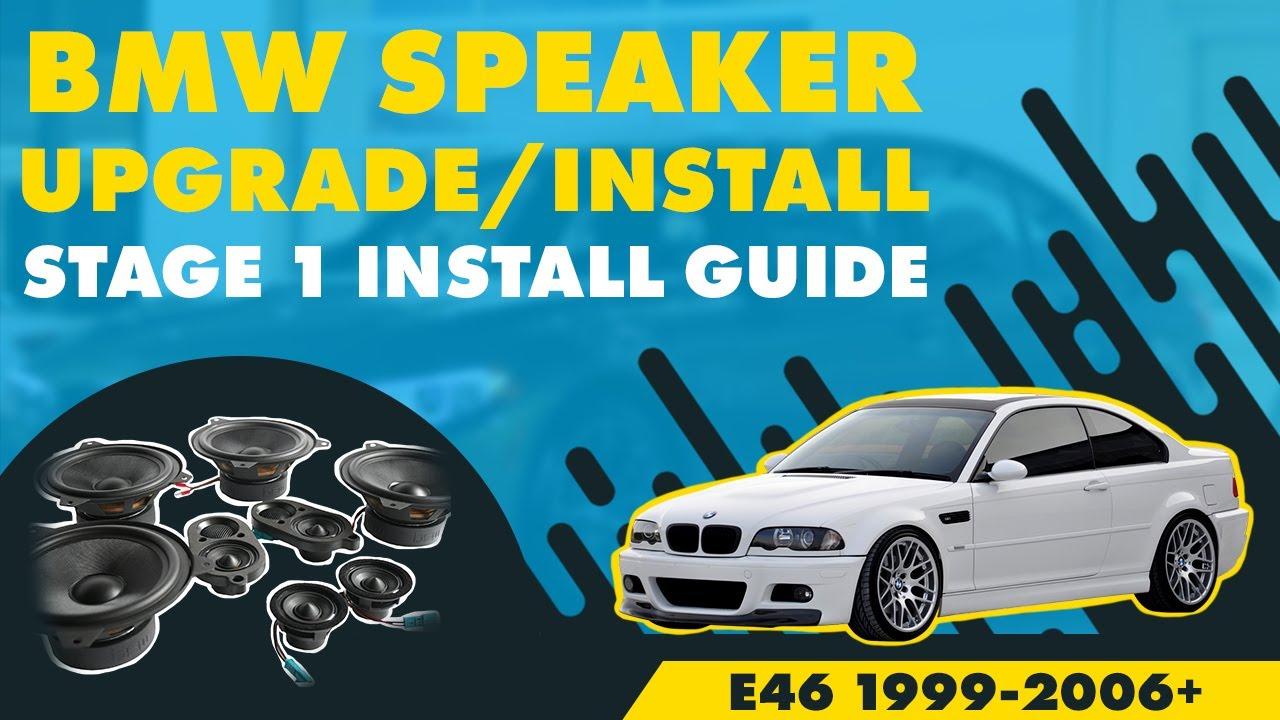 medium resolution of bavsound bmw 3 series coupe cabrio speaker upgrade 1 2 bsw stage one e46 99 06 youtube