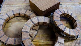 Woodturning with Mahogany and Walnut – Segmented Turning