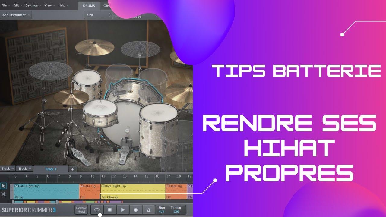 TIPS BATTERIE Rendre ses HiHat Propres - www.lemixage.fr