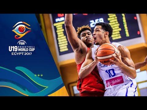 Puerto Rico v Angola - Full Game - CL 9-16 - FIBA U19 Basketball World Cup 2017