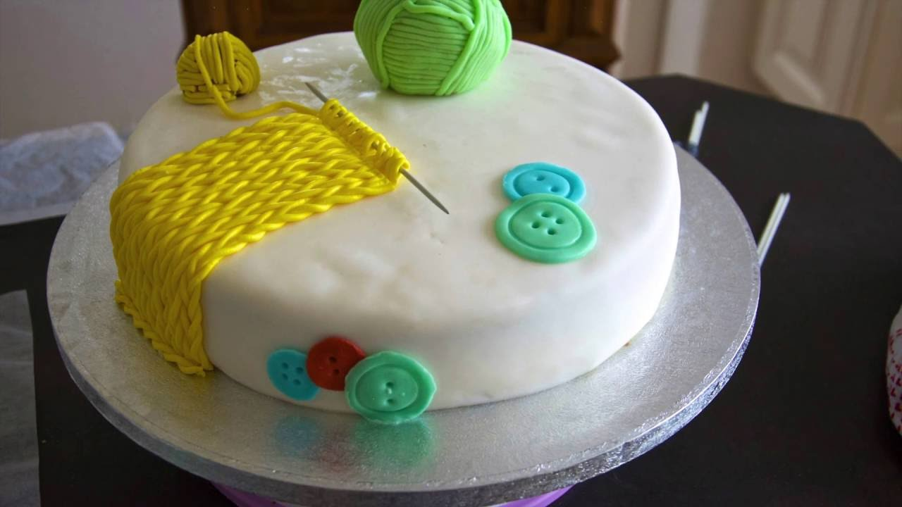 Knitting Cakes Images : Knitting cake youtube