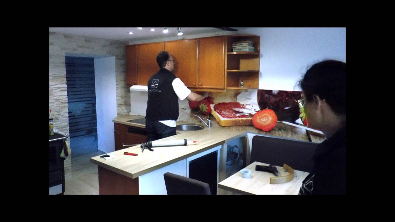 Küchenspiegel Laminat montage küchenspiegel
