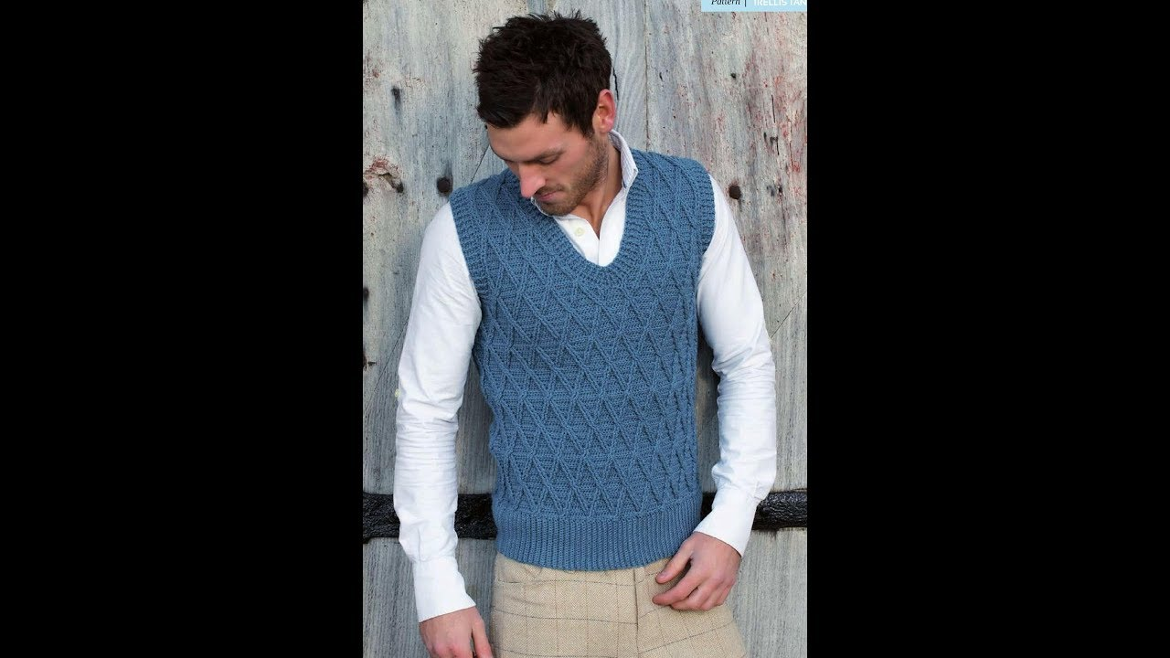 Free English Crochet Patterns For Crochet Sweater For Men 2161
