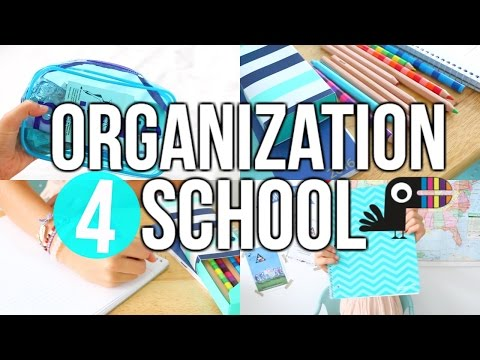 How To Be Organized This School Year!