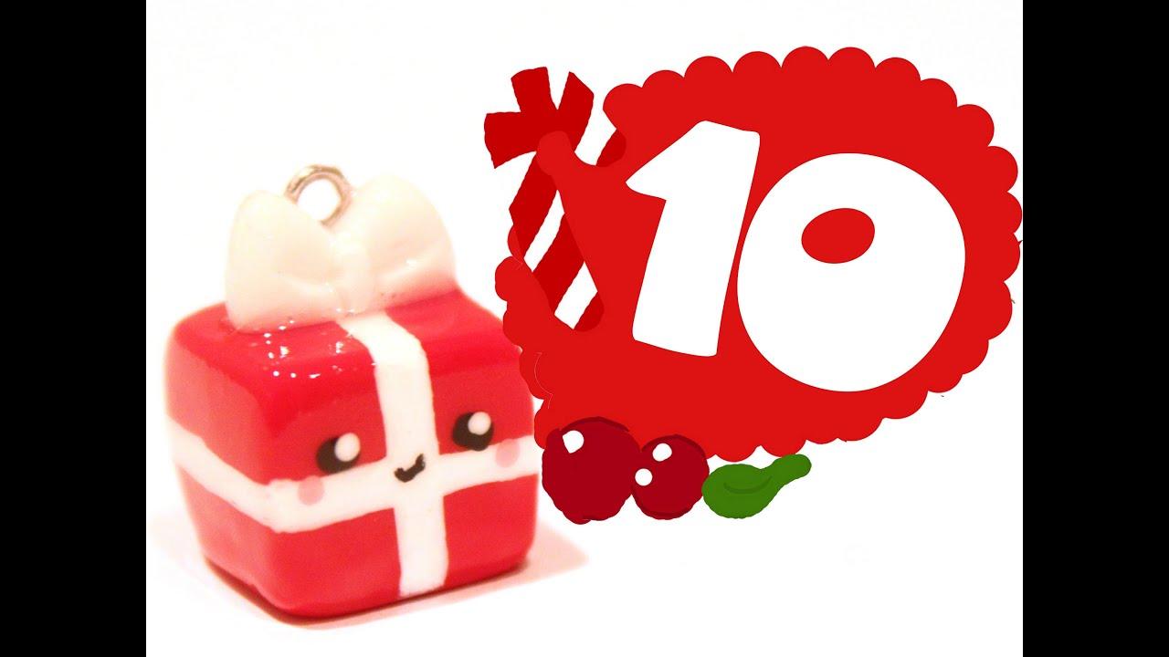 Christmas Gift! Kawaii Christmas 10 -Polymer Clay tutorial ...