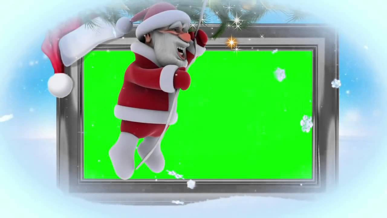 green screen christmas frame