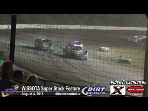 KRA Speedway 8/4/16 WISSOTA Super Stock feature final laps