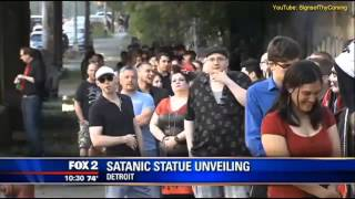 Satanic Baphomet Statue unveiled in Detroit after rejection at Oklahoma capitol