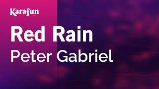 Karaoke Red Rain - Peter Gabriel *