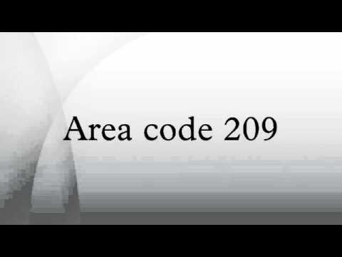 Area Code YouTube - Where is area code 209