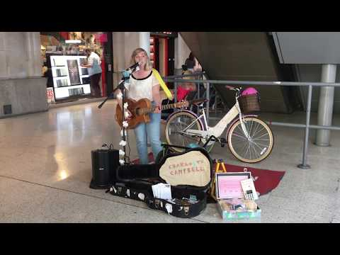 Oasis, Champagne Supernova   Charlotte Campbell  busking in the streets of London, UK