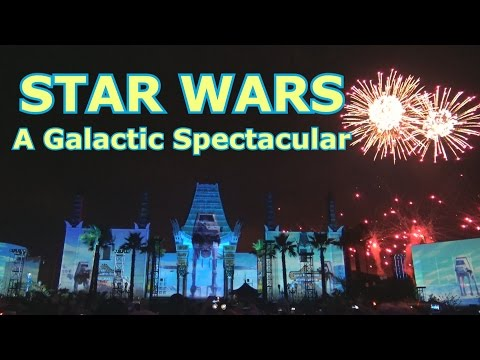 Смотреть STAR WARS A Galactic Spectacular - NEW Projection Fireworks - Disney's Hollywood Studios