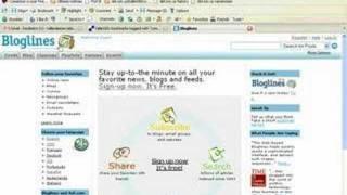 Crear una cuenta en bloglines