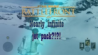 Star Wars Battlefront - How to get nearly INFINITE JET PACK FUEL and POWER UPS