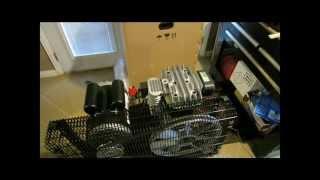 harbor freight 29 gallon cast iron air compressor 68127 break in part 2
