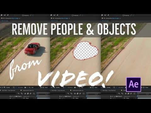 Remove ANYTHING from your videos in 1 click! Content Aware Fill Tutorial in After Effects 2019 thumbnail