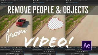 Remove ANYTHING from your videos in 1 click! Content Aware Fill Tutorial in After Effects 2019