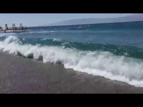 Bodrum dev dalga görenleri şaşırttı (korkutmuşta olabilir)